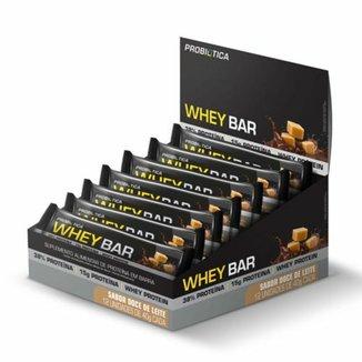 Barra de Proteína Whey Bar - Caixa c/ 12 Unidades - Probiótica