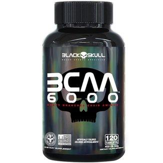 BCAA 6000  Black Skull - 120 Tabs