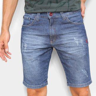 Bermuda Jeans Ecko Slim Masculina