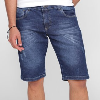 Bermuda Jeans Grifle Básica Masculina