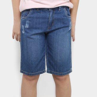 Bermuda Jeans Infantil Milon Estonada Masculina