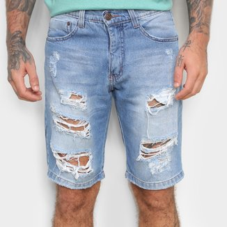 Bermuda Jeans Onbongo Destroyed Masculina