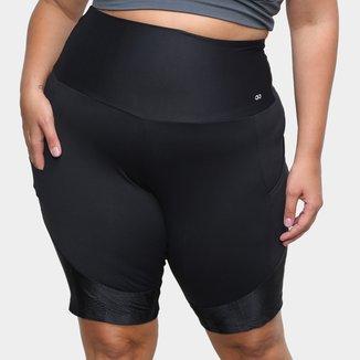 Bermuda Plus Size Alto Giro Hyper Cintura Alta Feminina