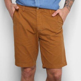 Bermuda Sarja Reserva Slim Fit Color Masculina