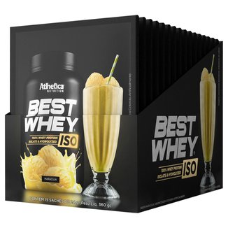 Best Whey Protein  Iso c/ 15 Unidades de 24 g - Atlhetica Nutrition
