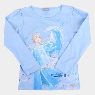 Blusa Disney Frozen Manga Longa Feminina