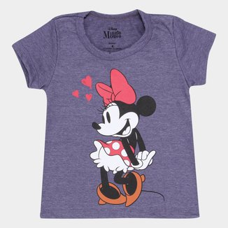 Blusa Infantil Disney Minnie Cute Feminina