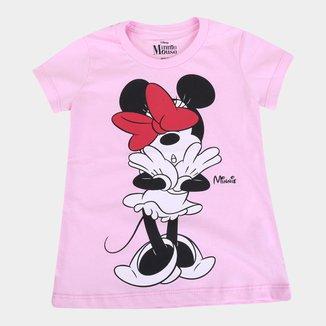 Blusa Infantil Disney Minnie Kiss Feminina