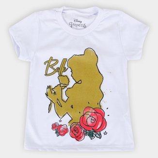 Blusa Infantil Disney Princesas Bella Shine Feminina