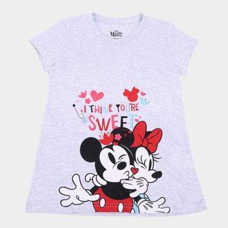 Blusa Infantil Disney Sweet Mickey & Minnie Feminina