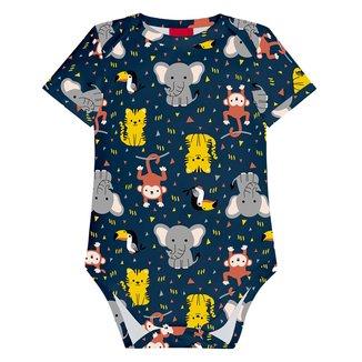 Body Bebê Kyly Cotton Estampado Masculino