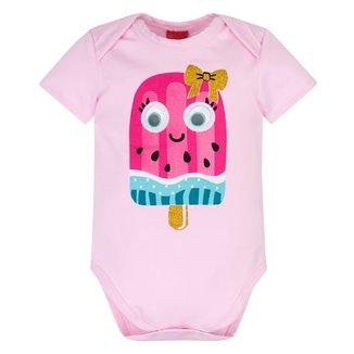 Body Bebê Kyly Cotton Sorvete Feminino