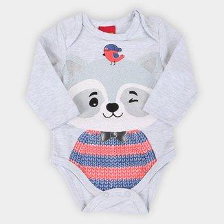 Body Bebê Kyly Estampado Cotton Manga Longa