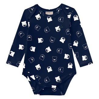 Body Bebê Milon Cotton Estampado Manga Longa