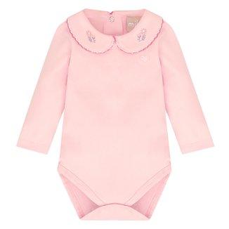 Body Bebê Milon Manga Longa Bordado Feminino