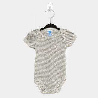 Body Bebê Pulla Bulla Listrado Manga Curta