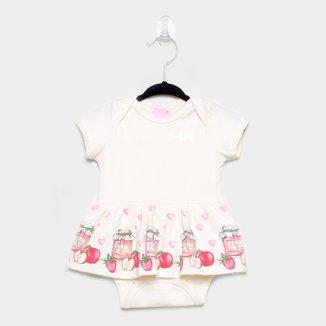 Body Bebê Quimby C/ Saia Manga Curta