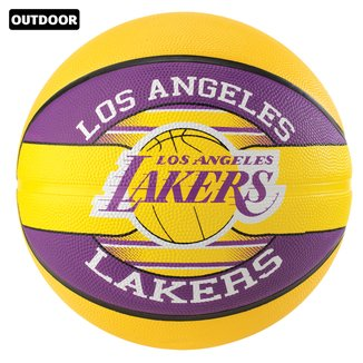 Bola de Basquete Spalding NBA Los Angeles Lakers Team Rubber Basketball Tam 7