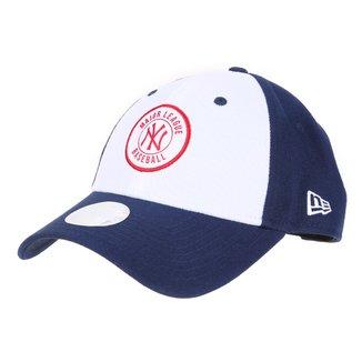 Boné MBL New York Yankees New Era Aba Curva Snapback College Patch 9Forty
