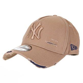 Boné New Era MLB New York Yankees Aba Curva Destroyed Masculino