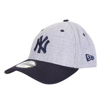Boné New Era  MLB New York Yankees Aba Curva Fechado 3930 Core 2Tone
