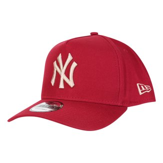 Boné New Era MLB New York Yankees Aba Curva Snapback A-Frame 9Forty