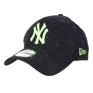 Boné New Era MLB New York Yankees Aba Curva Snapback A-Frame Rave Space Stars 9Forty