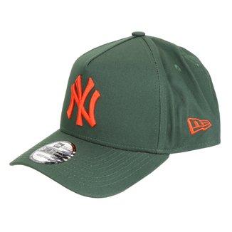 Boné New Era MLB New York Yankees Aba Curva Snapback Masculino
