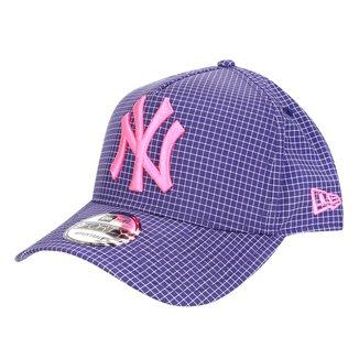 Boné New Era MLB New York Yankees Aba Curva Snapback Space Plaid 9Forty