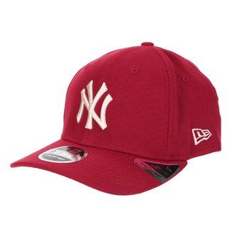 Boné New Era MLB New York Yankees Aba Curva Snapback Stretch 9Fifty