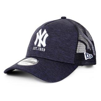 Boné New Era MLB New York Yankees Aba Curva Snapback Trucker College 1903 9Forty