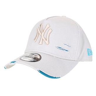 Boné New Era MLB New York Yankees Aba Curva Strapback 940 Inv Destroyed