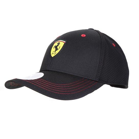 Boné Puma Ferrari Aba Curva Fanwear - Preto