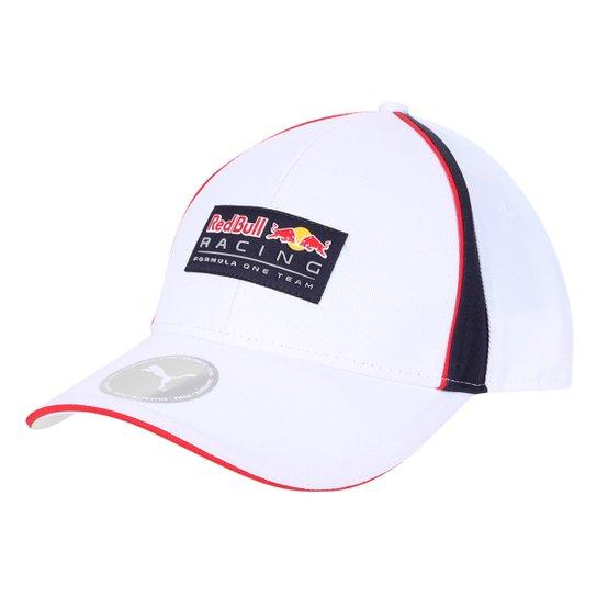 Boné Puma Red Bull Racing Aba Curva - Branco