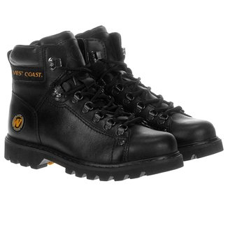 Bota Couro Coturno West Coast Worker Masculina