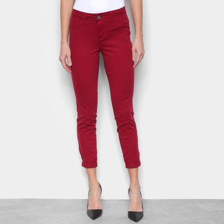 Calça Jeans Skinny Barra Dobrada Feminina