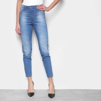Calça Jeans Skinny Ecxo Cropped Feminina