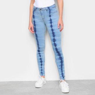 Calça Jeans Skinny Estonada Feminina