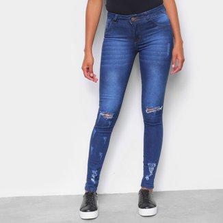 Calça Jeans Skinny Rasgo Feminina