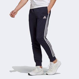 Calça Moletom Adidas Essentials 3 Listras Masculina
