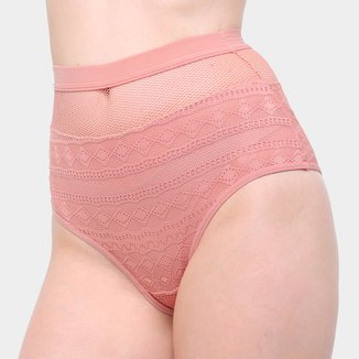 Calcinha Colcci Hot Pants Tela Cintura Alta Feminina