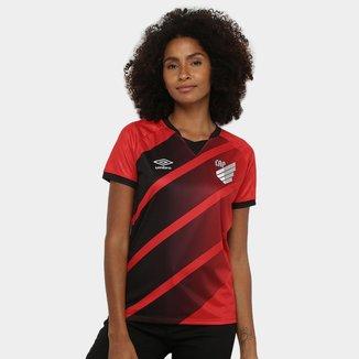 Camisa Athletico Paranaense I 20/21 s/n° Torcedor Umbro Feminina