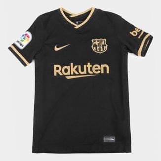 Camisa Barcelona Juvenil Away 20/21 s/n° Torcedor Nike