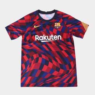 Camisa Barcelona Juvenil Pré-Jogo 20/21 Nike
