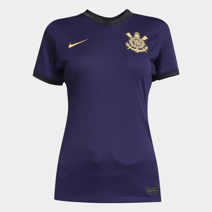 Camisa Corinthians III 21/22 s/n° Torcedor Nike Feminina