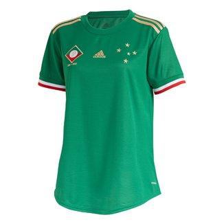 Camisa Cruzeiro III 21/22 s/n° Torcedor Adidas Feminina