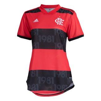 Camisa Flamengo I 21/22 s/n° Torcedor Adidas Feminina
