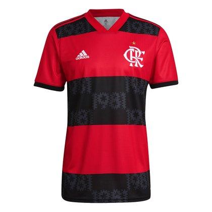 Camisa Flamengo I 21/22 s/n° Torcedor Adidas Masculina