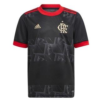 Camisa Flamengo Juvenil III 21/22 s/n° Torcedor Adidas