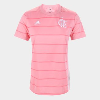 Camisa Flamengo Outubro Rosa 21/22 s/n° Torcedor Adidas Feminina